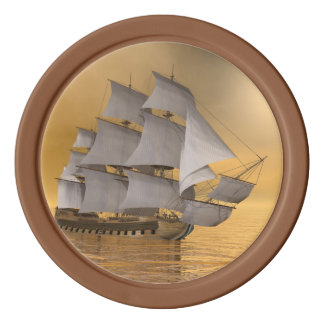 Old merchant ship - 3D Render Poker Chips