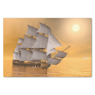 Old merchant ship - 3D Render Tissue Paper