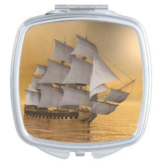 Old merchant ship - 3D Render Travel Mirror