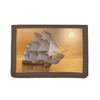 Old merchant ship - 3D Render Tri-fold Wallet