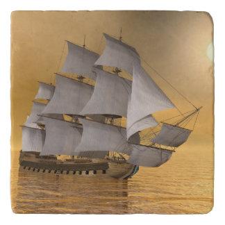 Old merchant ship - 3D Render Trivet