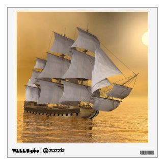 Old merchant ship - 3D Render Wall Sticker
