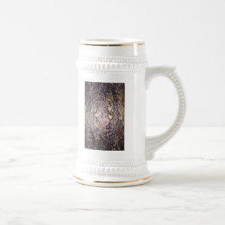 Old Metal abstract pattern by Valxart.com 18 Oz Beer Stein