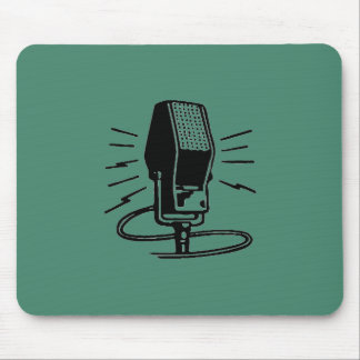 Old microphone mouse pad