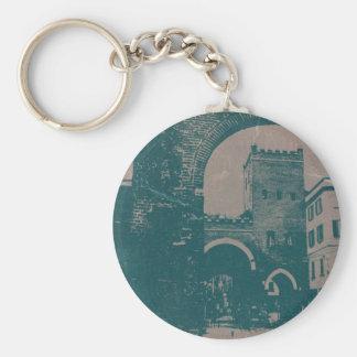 Old Milan Basic Round Button Keychain