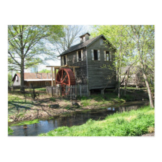 Old  Mill and Creek Postcard