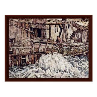 Old Mill By Schiele Egon Postcard
