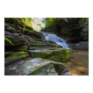 Old Mill Falls, Robert Treman state park, NY Poster