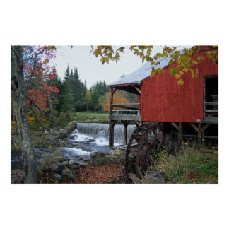 Old Mill Vermont Poster and Print