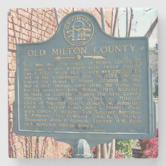 Old Milton County, Coaster, Alpharetta, Georgia Stone Coaster