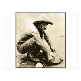 Old Miner Postcard