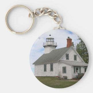 Old Mission Point Light, MI Keychain