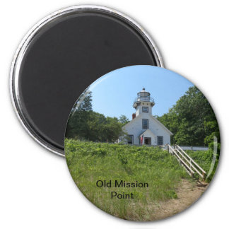Old Mission Point Lighthouse 2 Inch Round Magnet
