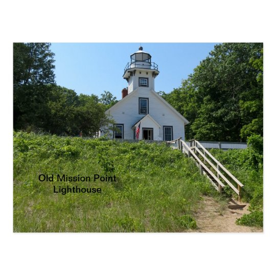 Old Mission Point Lighthouse Postcard