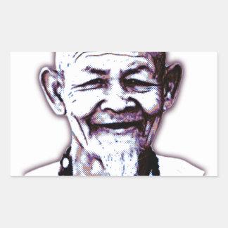 Old Monk Rectangular Sticker