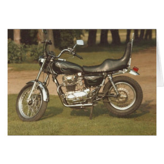 Old Motorcycle: Blank Cards