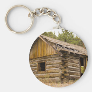 Old Mountain Cabin Basic Round Button Keychain