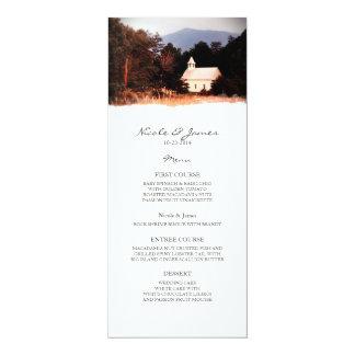 Old Mountain Church Wedding Menu Invite