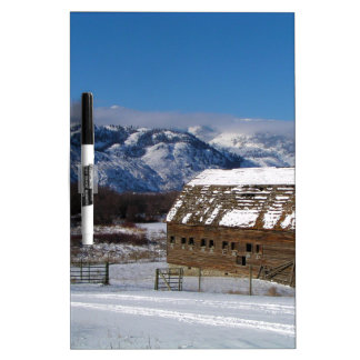 Old mountain farm in winter Dry-Erase boards