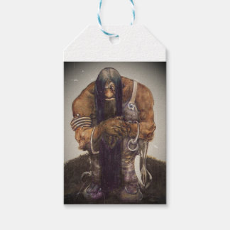 Old Mountain Troll with Chains Gift Tags
