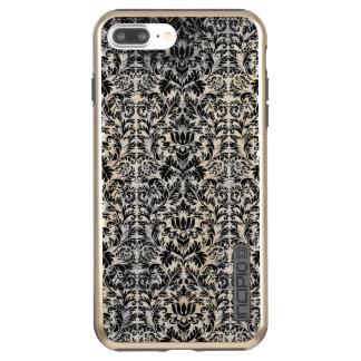 Old Movie Style Black White Damask Aged Pattern Incipio DualPro Shine iPhone 7 Plus Case