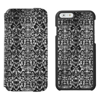 Old Movie Style Black White Damask Aged Pattern Incipio Watson™ iPhone 6 Wallet Case