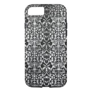 Old Movie Style Black White Damask Aged Pattern iPhone 7 Case