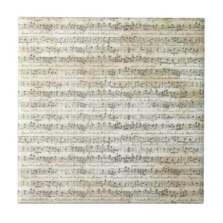 old music ceramic tile