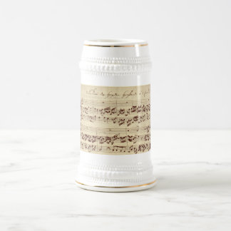 Old Music Notes - Bach Music Sheet Beer Stein