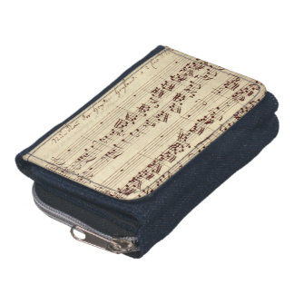 Old Music Notes - Bach Music Sheet Wallet