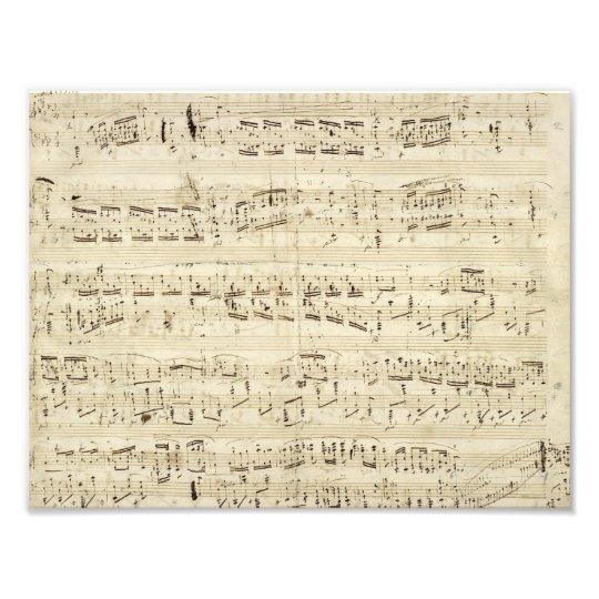 Old Music Notes - Chopin Music Sheet Art Photo