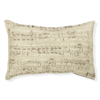 Old Music Notes - Chopin Music Sheet Pet Bed