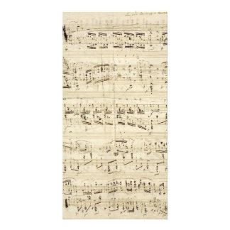 Old Music Notes - Chopin Music Sheet Photo Card