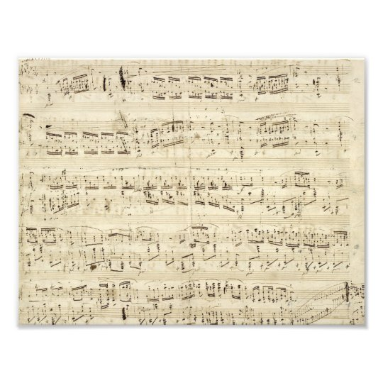 Old Music Notes - Chopin Music Sheet Photo Print