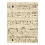Old Music Notes - Chopin Music Sheet Postcard
