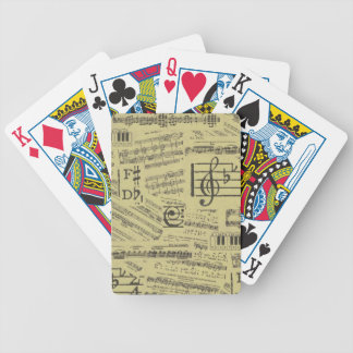 Old Music Paper 2 Bicycle Playing Cards