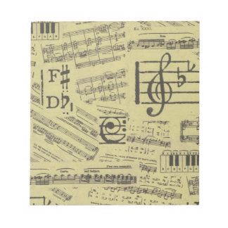 Old Music Paper 2 Notepads