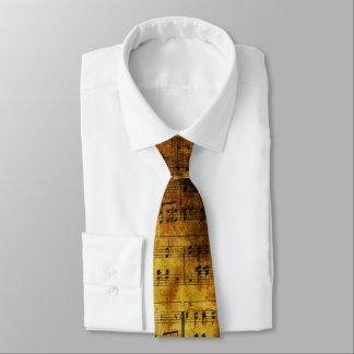 Old Music Sheet Tie