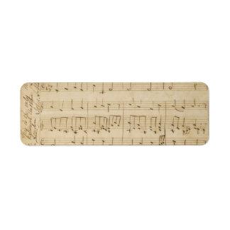 Old Music Sheet Vintage Look