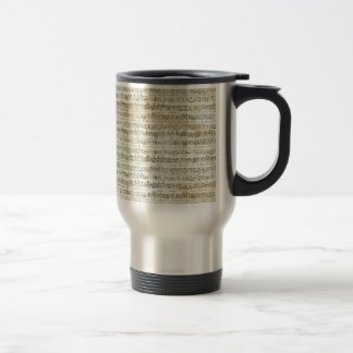 old music travel mug