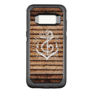 Old Nautical Anchor Wood OtterBox Commuter Samsung Galaxy S8 Case