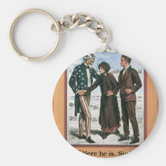 Old Navy Recruiting Poster circa 1917 Basic Round Button Keychain