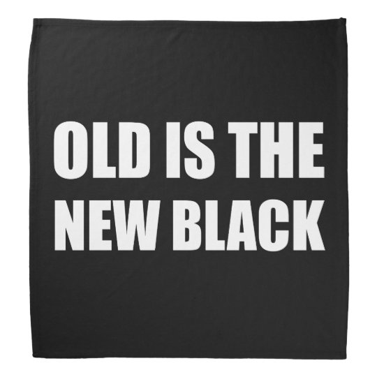 Old New Black Kerchief