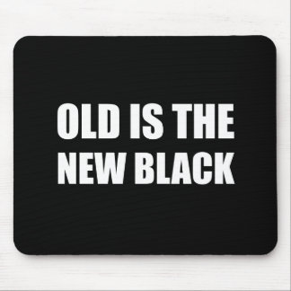 Old New Black Mouse Pad