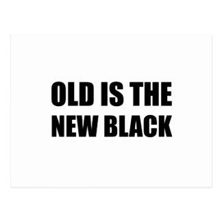 Old New Black Postcard