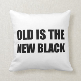 Old New Black Throw Pillow
