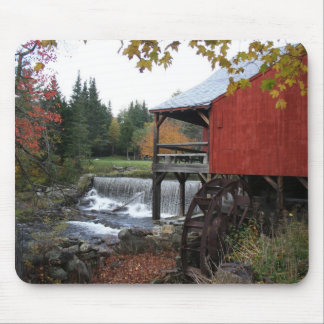Old New England Mill, in the fall Mouse Pad