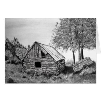 Old New Mexico Casita / Cabin / House Card