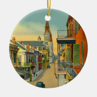Old New Orleans French Quarter Ceramic Ornament