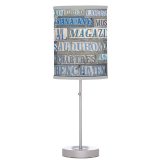 Old New Orleans Street Table Lamp with Linen Shade